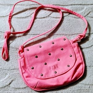 VS💗PINK *HTF* hot pink studded canvas swingpack